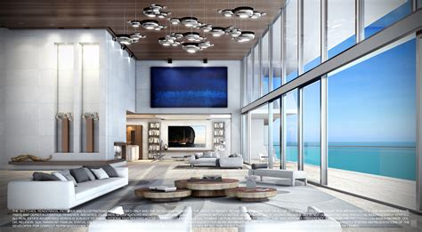 Turnberry Ocean Club Miami Penthouses Bathroom Ideas For Small Cheap Remodel Bathrooms Pottery Barn Towel Folding Decorating Spaces Grey Porcelain Tiles Wall Mosaic