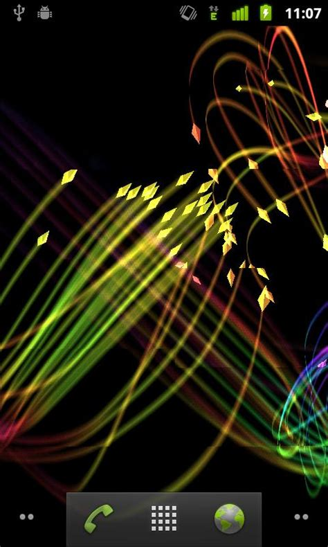 3d Wallpapers For Android Mobile Screen by Light Up Your Home Screen With 3d Fireflies Live Wallpaper