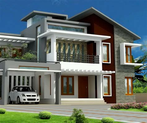 Small House Exteriors, Paint Modern Small House Exterior