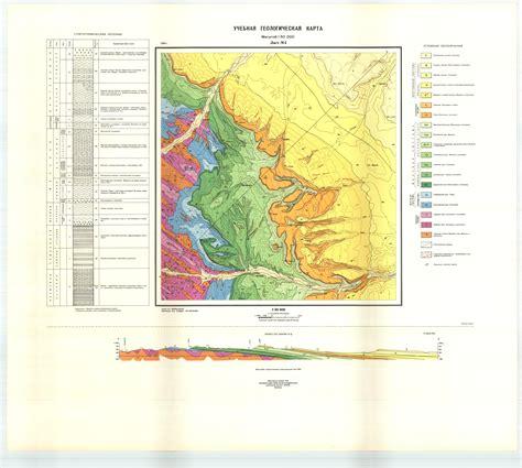 Учебная геологическая карта №4   Геологический портал GeoKniga