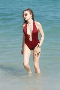 XENIA TCHOUMITCHEVA in Swimsuit at a Beach in Miami 12/08 ...