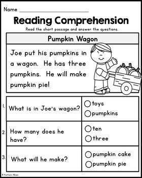 Prepossessing Kindergarten Reading Comprehension With Kindergarten Reading Prehension Passages
