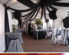 Table Decorations Black And White Theme Black And White Stripe Cocktail Tables Auction Ideas Pinterest