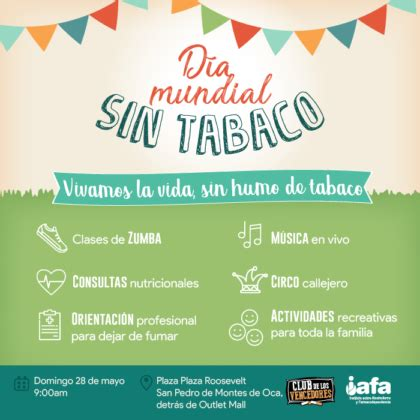 dia mundial tabaco health fair to celebrate another year without tobacco