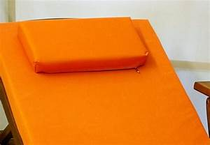 Matelas Bain De Soleil Impermeable : coussin orange pour bain de soleil et transat ~ Dailycaller-alerts.com Idées de Décoration