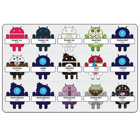 all androids android phone mascot mini figures series 3 4 pack
