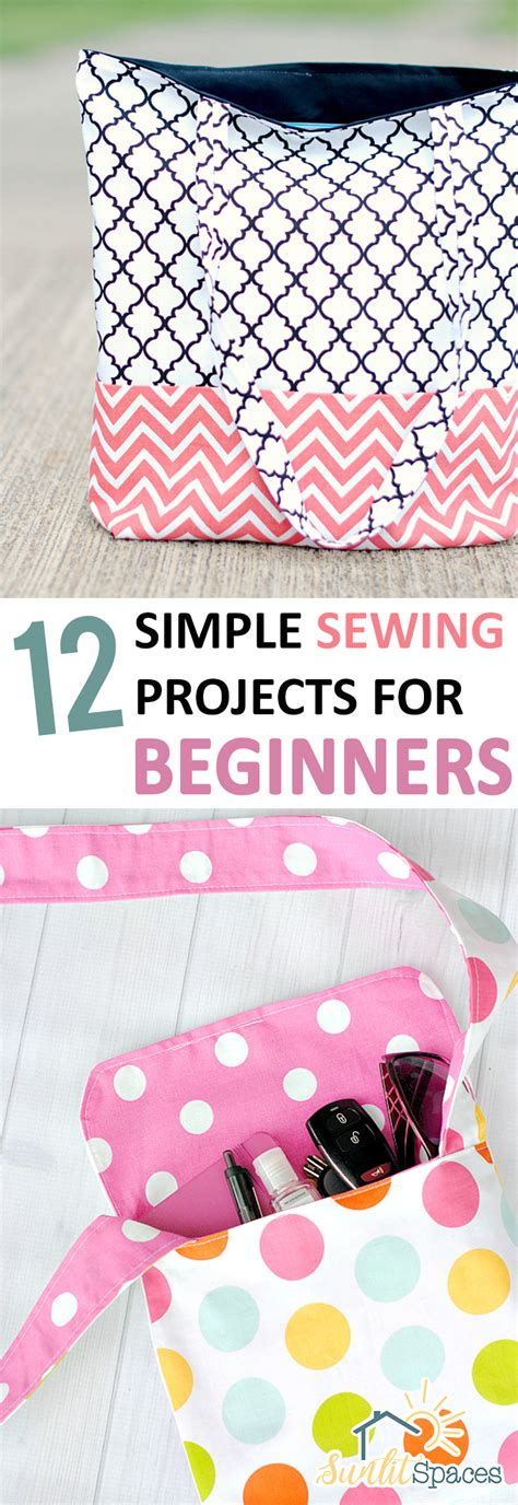 simple sewing projects  beginners sunlit spaces