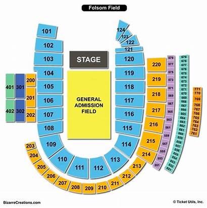 Seating Folsom Field Chart Concert Charts Views