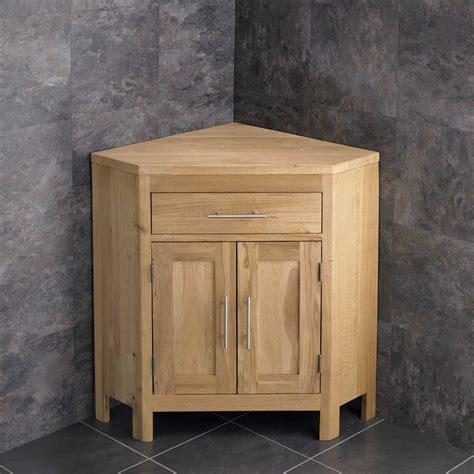 alta natural solid oak large  door vanity corner