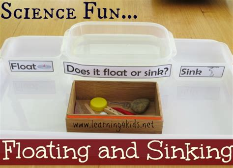 Sinking And Floating Activities by Floating And Sinking Science Activity Learning 4 Kids