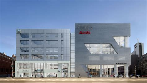 audi dealership exterior new vw audi dealer complex in nyc photo gallery autoblog