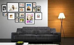 Cadre Photo Mural : beaucoup d 39 id es avec un cadre photo multivues et un cadre photo p le m le ~ Teatrodelosmanantiales.com Idées de Décoration