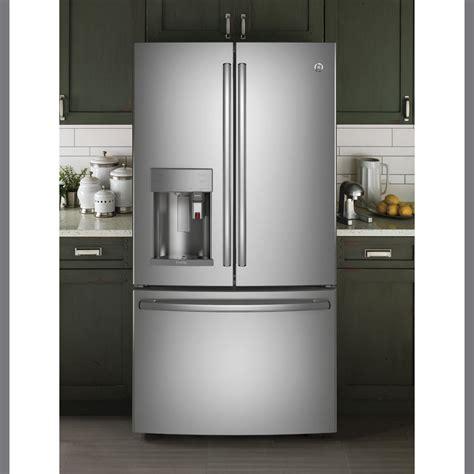 ge profile  cuft french door refrigerator  keurig  cup stainless steel pfepskss