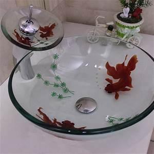 Waschbecken Glas Rund : ausverkauft eu lager rund glas waschbecken wasserfall wasserhahn set ~ Markanthonyermac.com Haus und Dekorationen