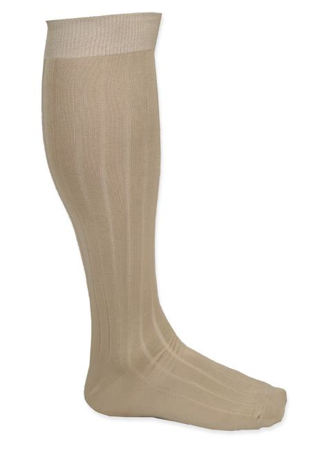 mens calf length socks cream