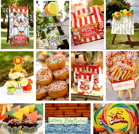 carnival food ideas carnival themed baby shower a stunning affair s weblog