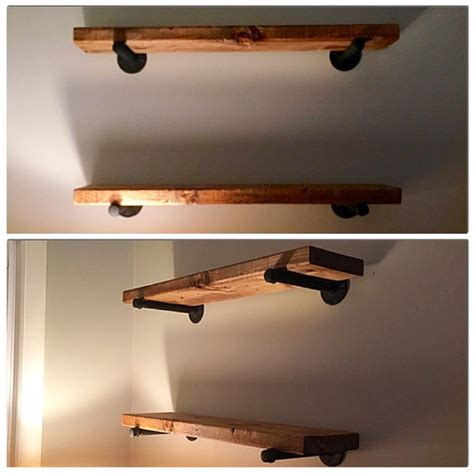 diy rustic wood shelves   build