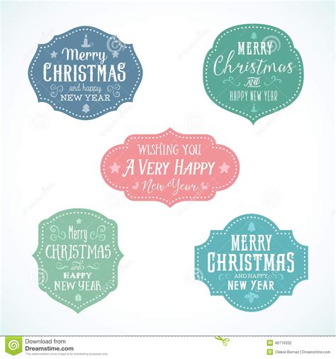 vintage typography soft color christmas vector stock vector image 46716332