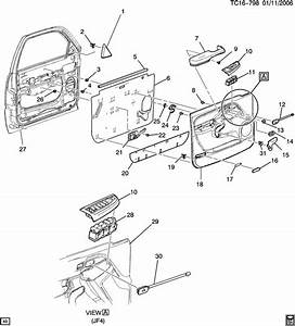 2003 Chevrolet Suburban Lever  Door Lock Remote  Lever