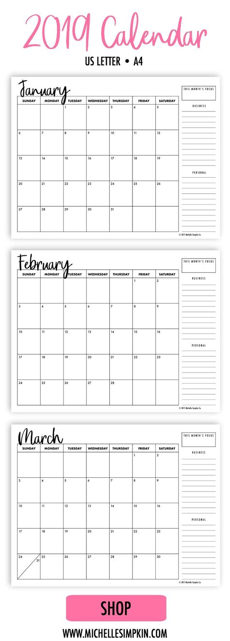 monthly planner calendars printable wallgramcom