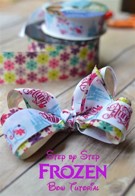 boutique style hair bow tutorial step by step boutique hair bow tutorial frozen tutorials 6832
