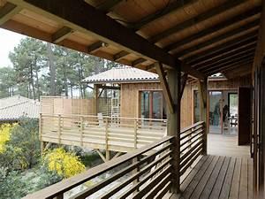 une maison bois sur pilotis dans une pinede en aquitaine With maison en bois sur pilotis