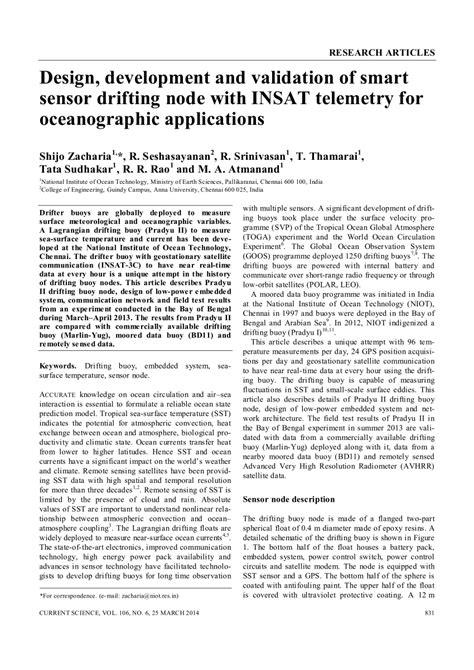 (PDF) Design, development and validation of smart sensor