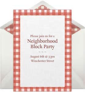 Neighborhood Block Party Invitation Idea