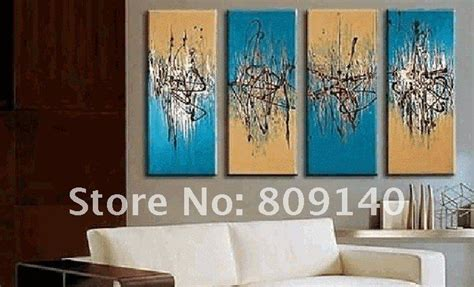 shipping blue orange abstract oil painting canvas