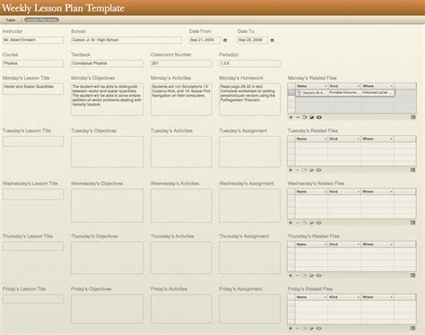 plan template free weekly lesson plan template and resources