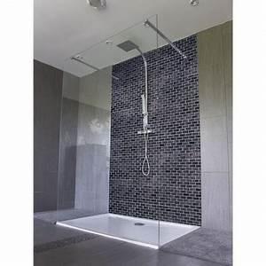 Carrelage De Douche : panneau de douche carrelage noir salle de bain italienne black and white ~ Melissatoandfro.com Idées de Décoration