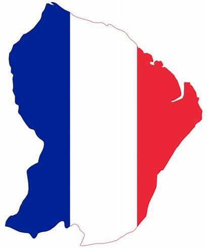 Flag French France Map Guiana Background Da