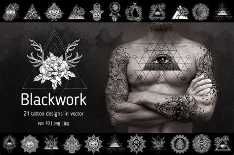 blackwork  vector tattoo designs illustrations