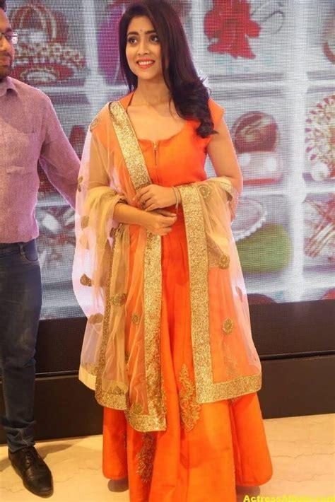 shriya saran hot   orange dress actress album