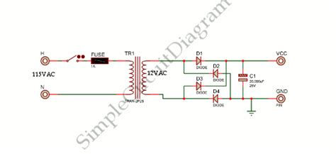 voltage power supply simple circuit diagram