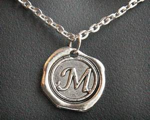 christmas gift personalized gift jewelry initial necklace With mens letter pendant