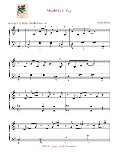 Permission granted for instruction, public performance, or just for fun. Maple Leaf Rag - EASY PIANO By Scott Joplin (1868-1917 ...
