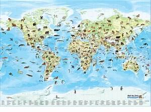 Weltkarte Poster Kinder : poster wandkarte weltkarte kinder mit lexikon 124x88 ebay ~ Yasmunasinghe.com Haus und Dekorationen