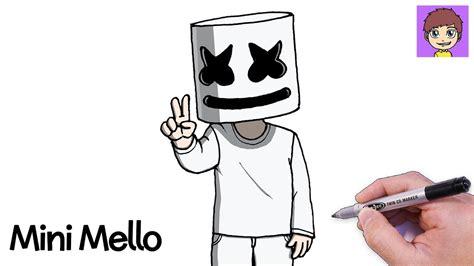 Como Dibujar Mini Marshmello Paso a Paso Dibujos para