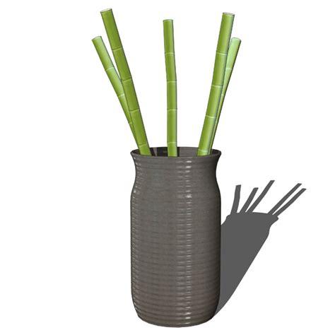 Vases For Bamboo Sticks by Decorative Bamboo In Vases 3d Model Formfonts 3d Models