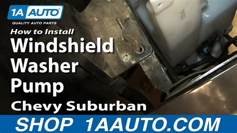 install replace windshield washer pump