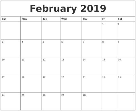 february  editable calendar template