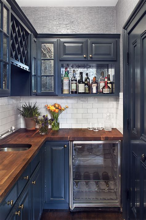 navy cabinets contemporary kitchen blair harris