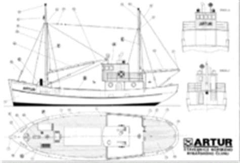 Fishing Boat Artur by Vintage Model Boat Ship Plans Page 8 Rc Groups