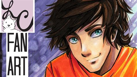 percy jackson fan art percy jackson heroes of olympus fan art copic marker