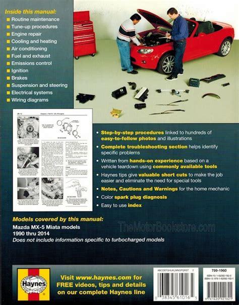 motor repair manual 1995 mazda miata mx 5 electronic throttle control mazda mx 5 miata repair manual 1990 2014 haynes 61016