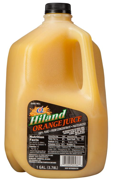 hiland dairy orange juice  tampico citrus punch recalled