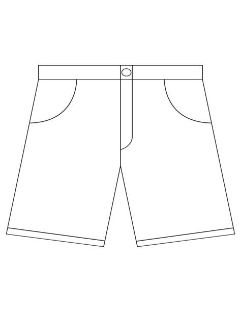 shorts template shorts coloring pages free shorts coloring pages for best coloring pages