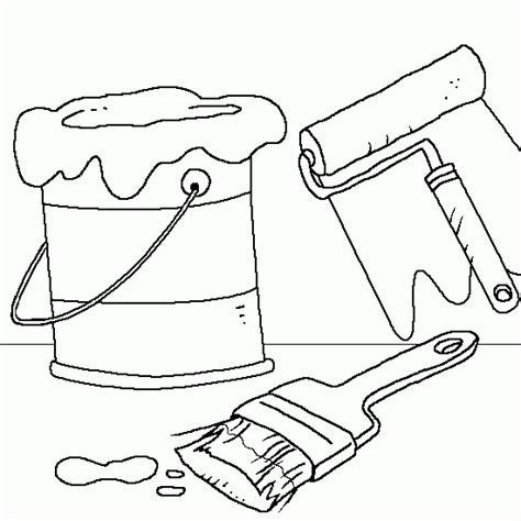 dessin pot de peinture pinceau coloriage pot de peinture et pinceaux coloriages de dessin gratuit 224 imprimer