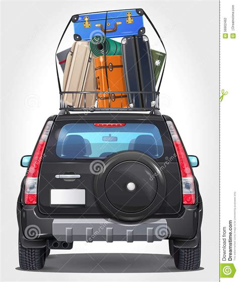 vector travel car side front  view stock vector image